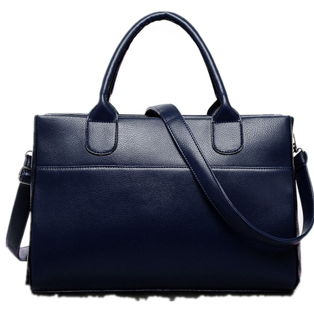 New Women Genuine Leather Handbag Shoulder Bag Large Tote Satchel Red by VESNIBA