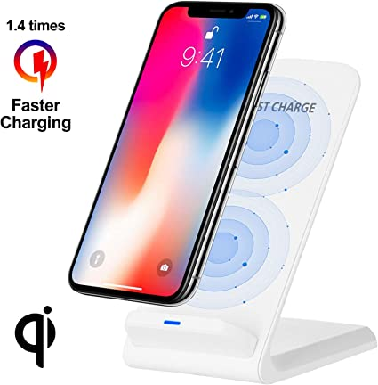 Xiao Mi Huawei iPhone X Samsung Desktop 5W//10W Square Wireless Quick Charger,Suitable for All QI Wireless Charging Standard Equipment Like iPhone 8 8 Puls Black, 5W
