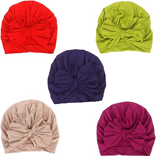 Baby Nylon Hat Cute Head Wear Turbans Bow Knot Head Wraps Soft Toddler Set Kids Cap