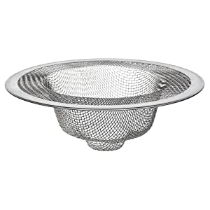 Danco, Inc. 88822P Danco 88822 4-1/2-Inch Kitchen Mesh Strainer, Stainless (2 Pack), 4-1/2-Inch-2 Steel