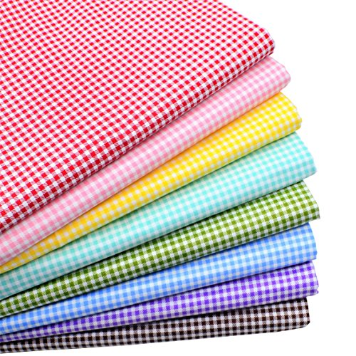 iNee Gingham Fat Quarters Fabric Bundles