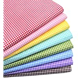 "iNee Gingham Fat Quarters Fabric Bundles, Quilting Fabric for Sewing Crafting, 18""x 22"" (Gingham)"