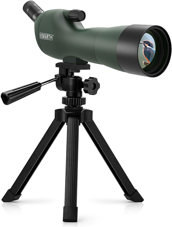Best Spotting Scope Under 500: Emarth 20-60x60AE Waterproof Angled Spotting Scope
