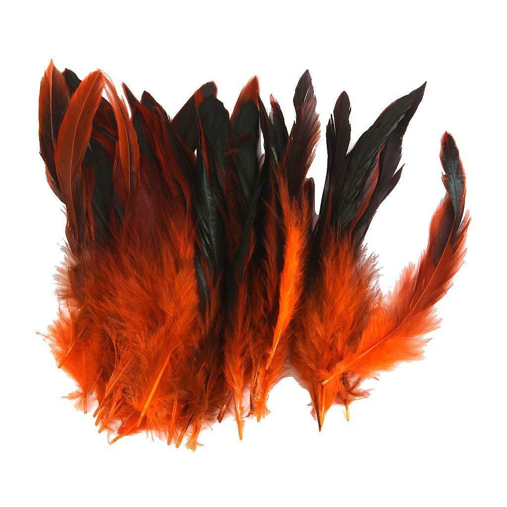 Unicoco Approx.50pcs mestiere di Cucito Gallo Feathers 12-18cm (Arancione)