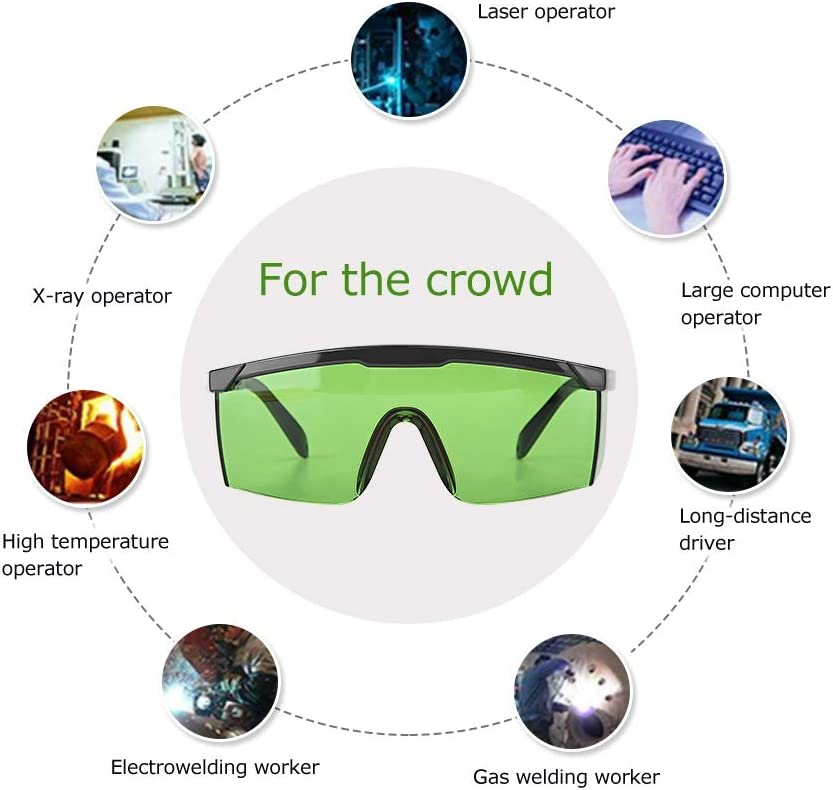 200-450nm//800-2000nm//1064nm Eye Protection,Safety Goggles UV Protective Goggles L-aser Eye Protection Glasses for L-aser Equipment Green