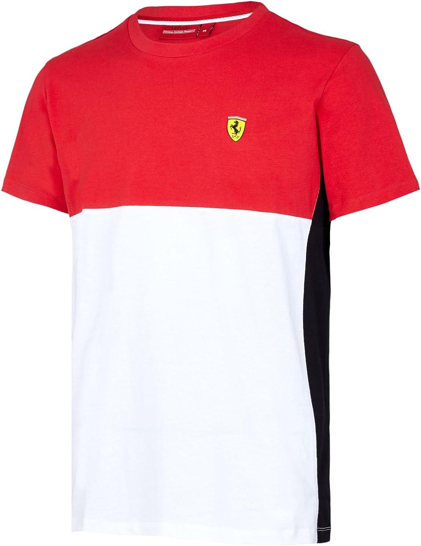 2017 Scuderia Ferrari F1 Equipo para Hombre 2-Panel Camiseta de algodón en Color Rojo o Amarillo, Rojo: Amazon.es: Deportes y aire libre