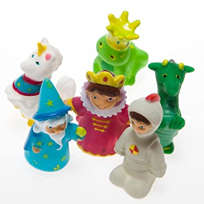 Fairy Tale Finger Puppet Party Favors (24 Assorted Characters) Kings, Knights, Wizards: Toys & Games