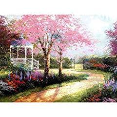 SimingD DIY oil painting by numbers is the new popular product. DIY production steps are simple, you can spend your free time to complete. It is as beautiful as what you see in the picture. Simply hung it onto the wall, it will make your room...