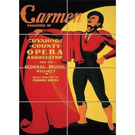 Amazon.com: Panel Art Print Teatro Opera Carmen Matador EE ...