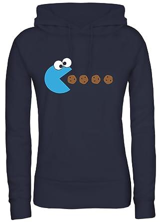 Shirtstreet, BLUE MONSTER, Damen   Lady Kapuzen Hoodie Pullover  Amazon.de   Bekleidung 578b1ffa5d