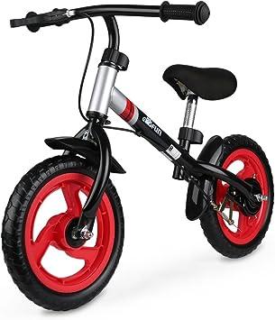 GOSFUN Bicicleta sin Pedales para Niños 18 Meses - 5 Años Bicicleta de Equilibrio Sillín y Manillar Ajustable,Bicicleta Bebe,Bicicleta Infantil Capacidad Máxima 50 KG, Rojo: Amazon.es: Deportes y aire libre