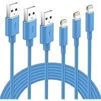 GlobaLink Oplaadkabel MFI Gecertificeerd Lightning Kabel 3 stuks 1M 2M 3M Compatibel met iPhone 11, iPhone X/XS MAX/XR…