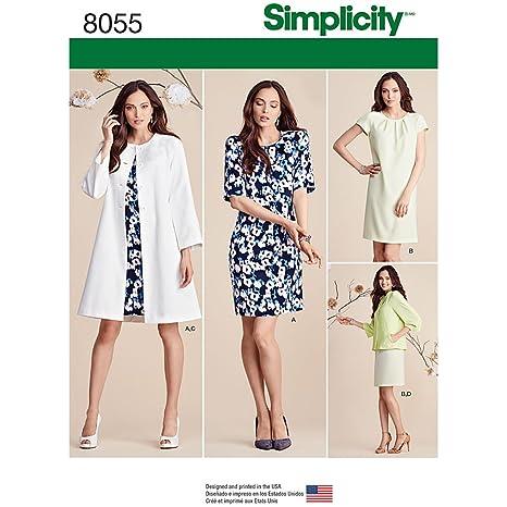 Simplicity 8055u5 Misses Kleid und Mantel oder Jacke Schnittmuster ...