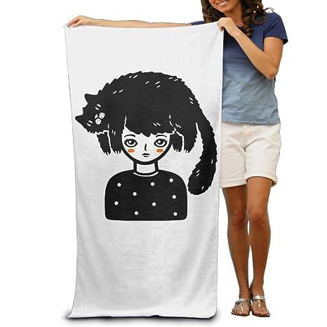 Gato Pelo adultos toallas de playa de rápido/secado rápido lavable a máquina ligero absorbente