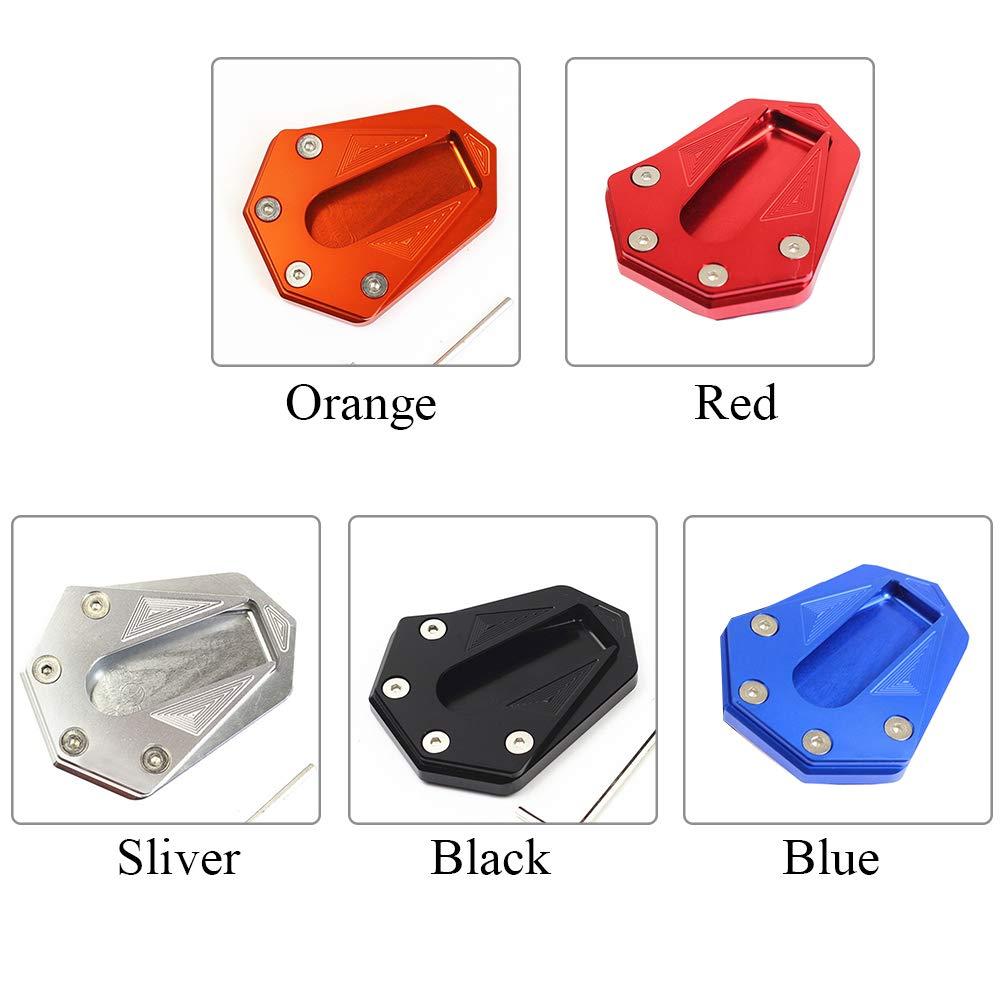 Rouge SAXTEL Kickstand Pad Alliage Daluminium Accessoires Support Durable Moto Modification Support Lat/éral Extension Antid/érapante Pied Universel Plaque Base pour Benelli 502