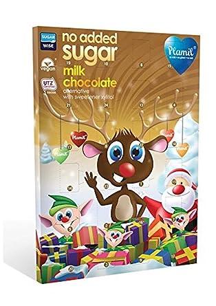 Veganer Weihnachtskalender.Plamil Vegan Dairy Free No Added Sugar Advent Calendar 110g