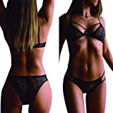 Lingerie Set for Women Sexy Strappy Bra and Panty Sets Lace Lingerie Underwear Set Babydoll
