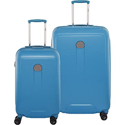 """Delsey Luggage Embleme Carry on and 25"""" Spin Lug, Blue"""