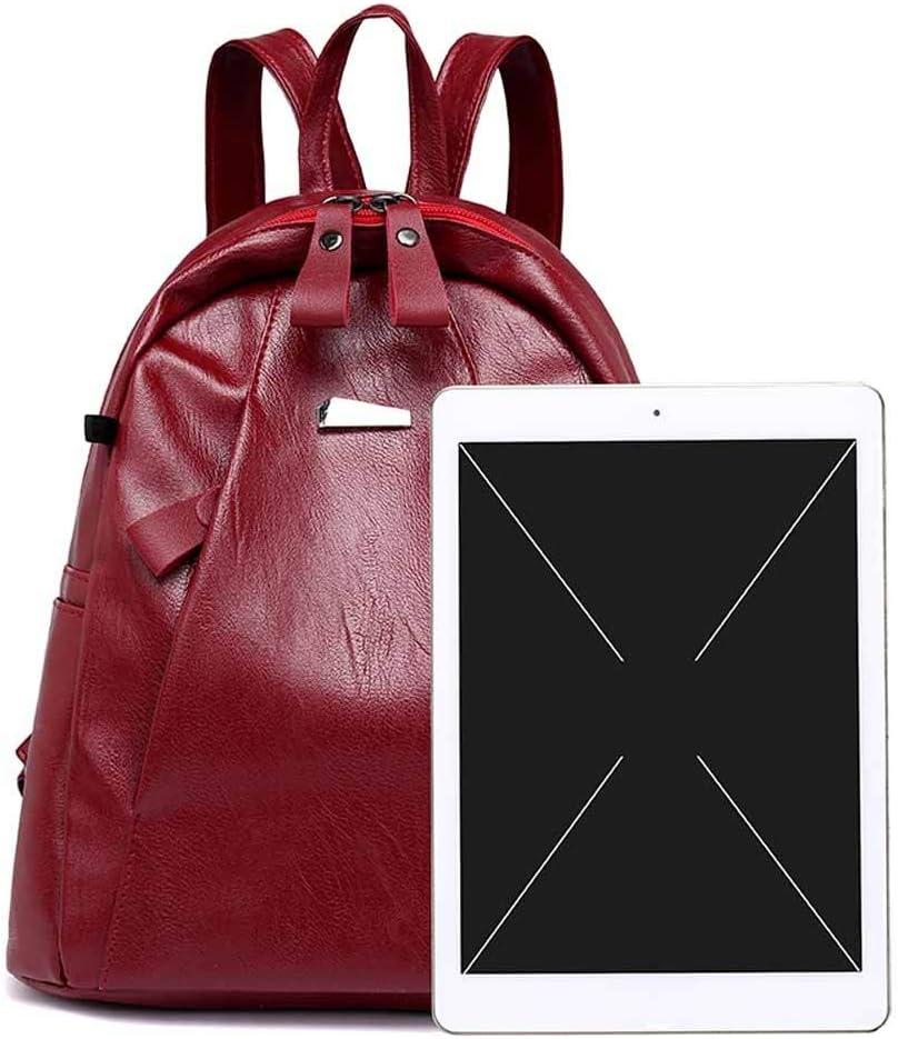 Black Shmei Casual Womens Burglar-Proof Backpack Student Headset Bag Travel Bag