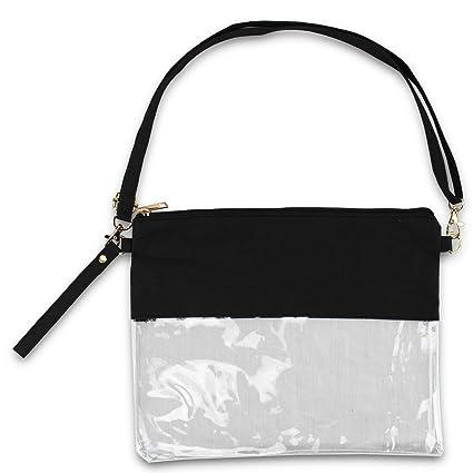b2f30803eefc Amazon.com : KnitPopShop Clear See Through Cross-Body Messenger Bag ...