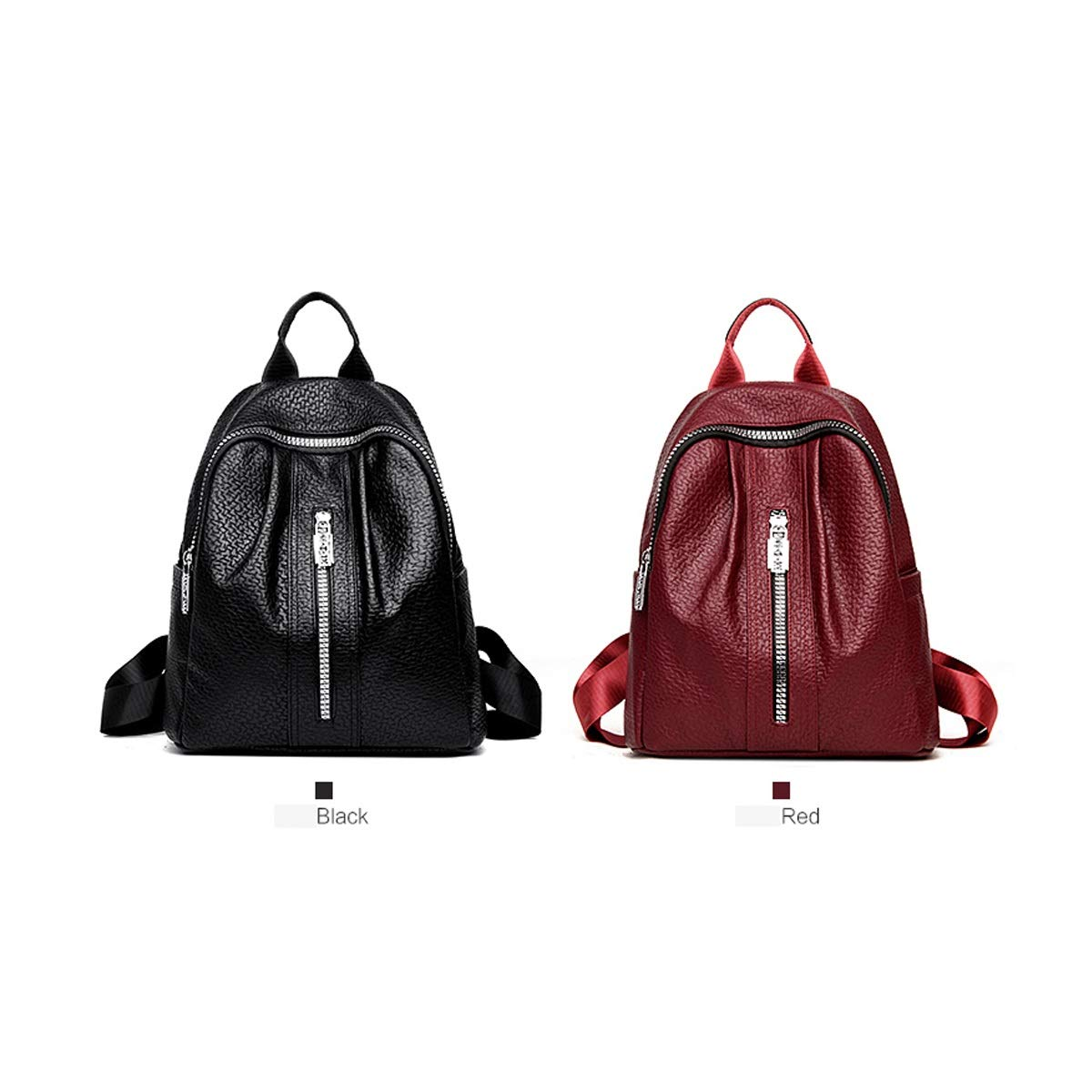 8haowenju Girls Multifunctional Backpack for Daily Travel//Tourism//School//Work//Fashion//Leisure Black//red Color : Black, Size : 32cm34cm15cm PU Leather Stylish Large Capacity Latest Models