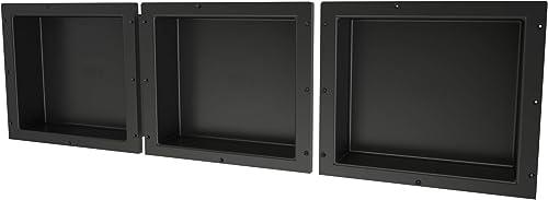 Tile Redi USA RNTH1614S-14-14 Niche Triple Shower Shelf, 48 W x 14 H, Black