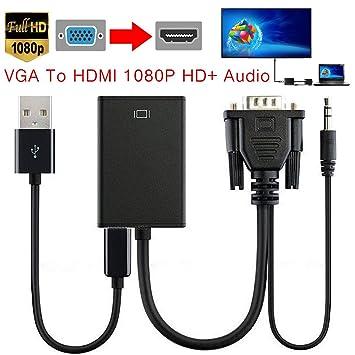 Cable VGA a HDMI, salida antifuego VGA a HDMI convertido/adaptador de cable 1080P
