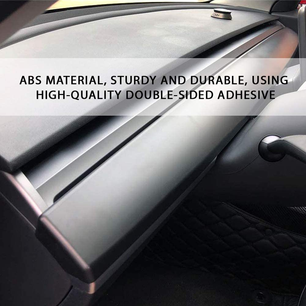 CoolKo Custom Fit Central Control Dashboard Panel Protection Instrument Trim Glossy Carbon Fiber Pattern Compatible with Model 3 /& Y 2 Pieces