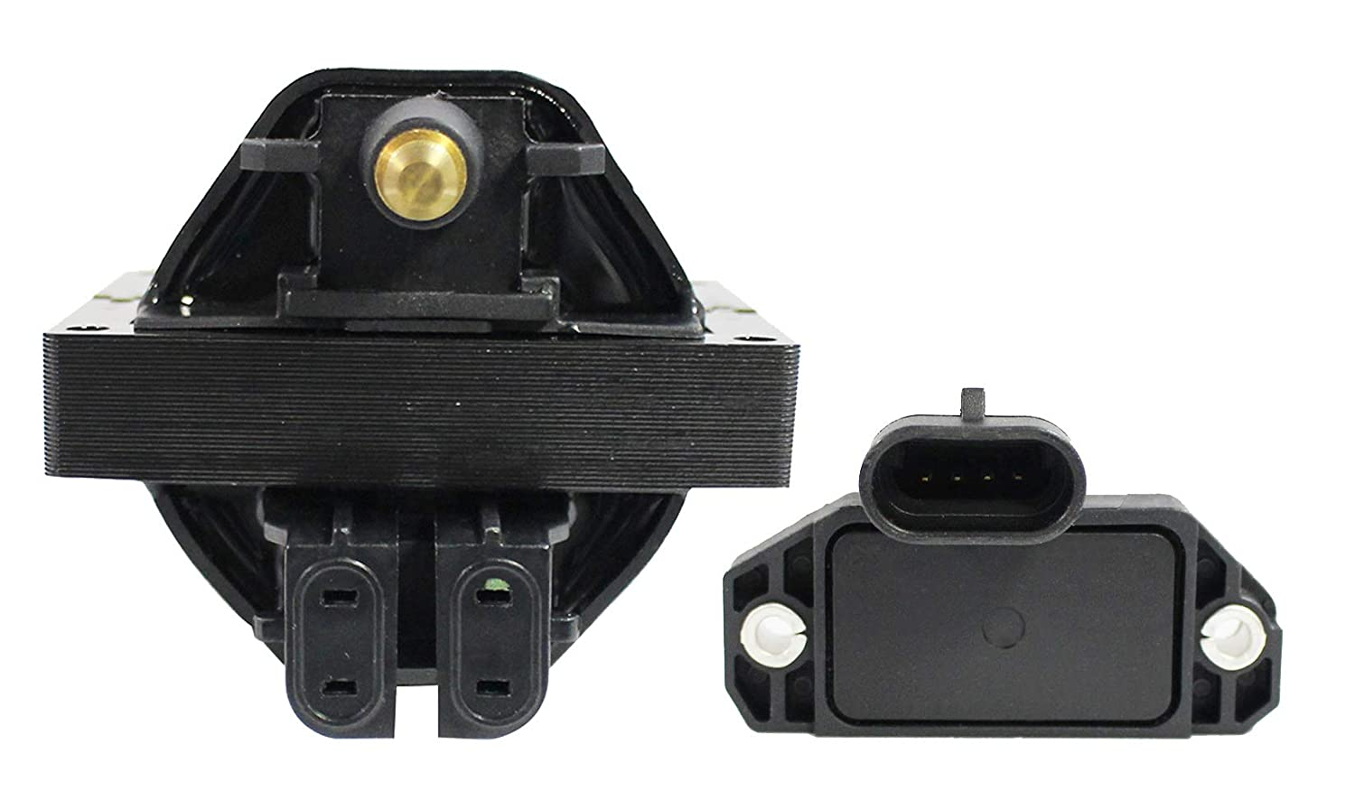 Ignition Coil and Module System Kit for 1994 1995 Buick Commercial Chassis Roadmaster Cadillac Fleetwood Chevy Camaro Caprice Corvette Impala Pontiac Firebird 4.3L 5.7L V8