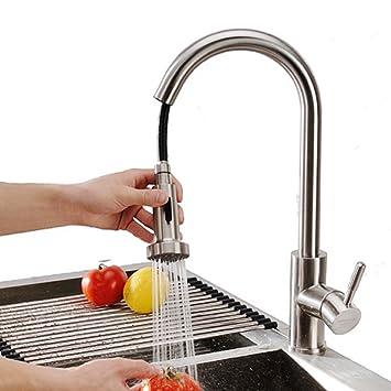 Homelody Küchenarmatur Ausziehbar Wasserhahn Küche mit Brause ...