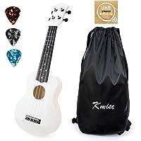 Kmise Soprano Ukulele for Beginners 21 inch ukelele Birthday Chrismas gift kit with Bag Picks String