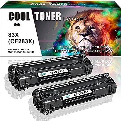 Cool Toner [4 Packs] 83A CF283A Compatible 83A Toner Cartridge Replacement Set For HP 83A CF283A Laserjet PRO MFP M201DW M127FN M127FW M225DW M225DN M125NW MFP-M225DW Printer CF283A 83A Black