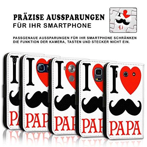 Wallet Book Style Flip Handy Tasche Case Schutz Hülle Schale Motiv Etui für Apple iPhone 5 / 5S - Design Flip MVD24