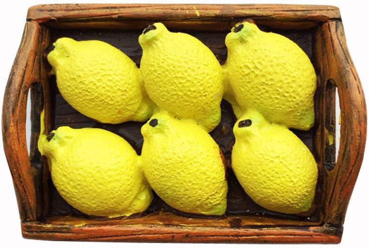 3D Fruit Lemon Fridge Magnet Home Kitchen Decoration Magnetic Sticker Food Refrigerator Magnet Collection