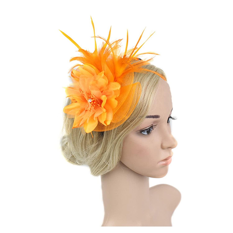 Jelinda sombrero tocado pluma de color eligible diseño especial en forma de cinta  para novias accesorios d44f553f9867
