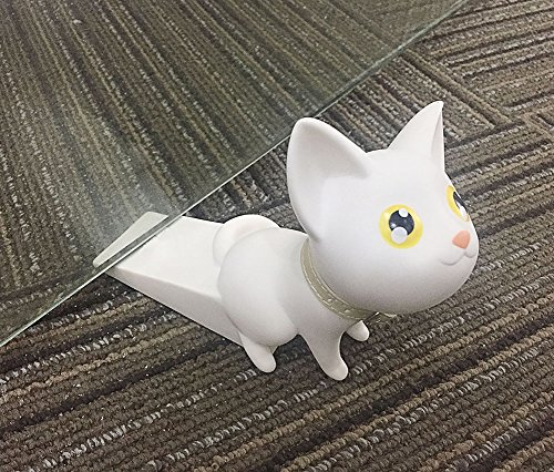 Cute Cat Door Stopper Wedge Finger Protector Works On All