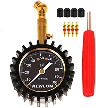 Manual Hand 0-100PSI Tyre Pressure Gauge Meter Tester for Car Truck Motorcycle Bike