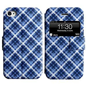 LEOCASE Patrón Checkerd Funda Carcasa Cuero Tapa Case Para Apple iPhone 4 / 4S No.1001122