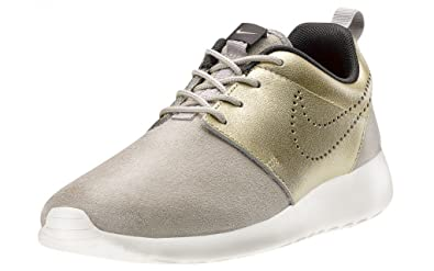 watch 37014 0c9f7 Nike Women s Wmns Roshe One PRM Suede, STRONG METALLIC GOLD GRN-DARK STORM