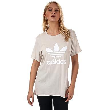 3b5aecb1cf821 adidas Originals Womens Womens Boyfriend Trefoil T-Shirt in Beige - 14: adidas  Originals: Amazon.co.uk: Clothing