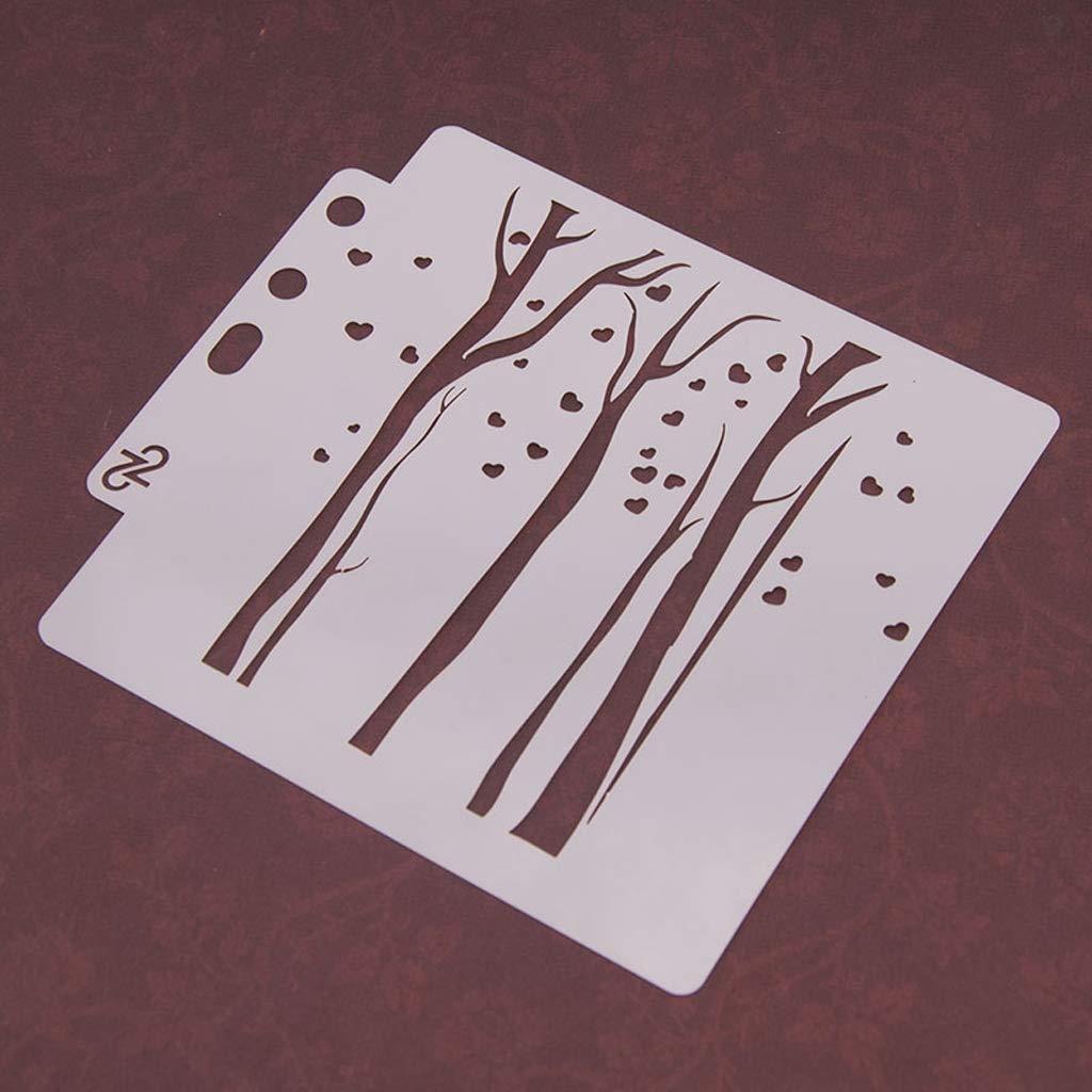 ad1d0fb65b4b67 Dabixx Peinture Pochoir, gabarits Modèle Peinture Murale Scrapbooking  Gaufrage estampage Album Carte dartisanat - S51