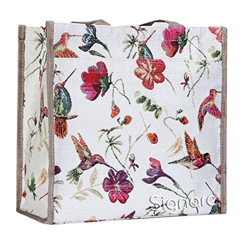 moda mujer Shopper Colibrí hombro Bolso animal de para Signare bolso de tapiz qRwwZ6F