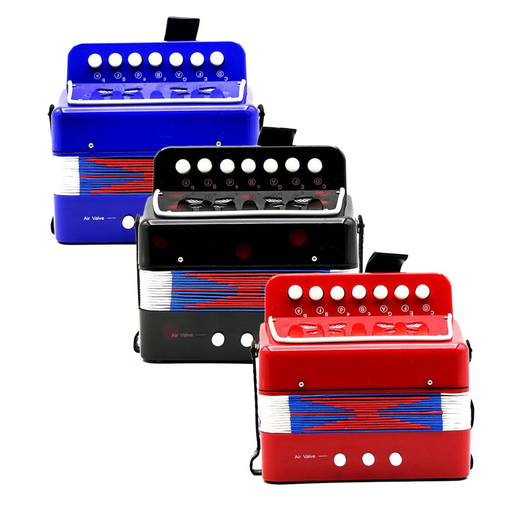 Almencla Kids Percussion Accordion Musical Toy Children Musical Instrument Blue by Almencla (Image #9)