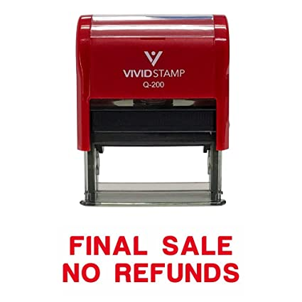 Amazon Basic FINAL SALE NO REFUNDS Self Inking Rubber Stamp