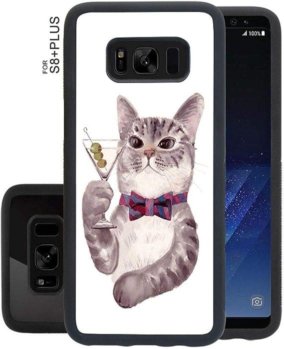 Amazon Com Cute Cat Phone Case Fit Samsung Galaxy S8 Plus 6 2 Version