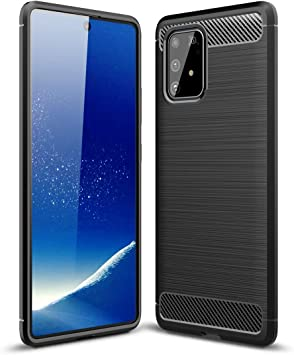 Bigcousin Funda con Cuerda Compatible con Samsung Galaxy A91//M80S//S10 Lite,Carcasa de Silicona con Colgante con Ajustable Collar Cadena Cord/ón,Rose Gold