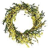 RAZ Imports 16'' Forsythia Wreath
