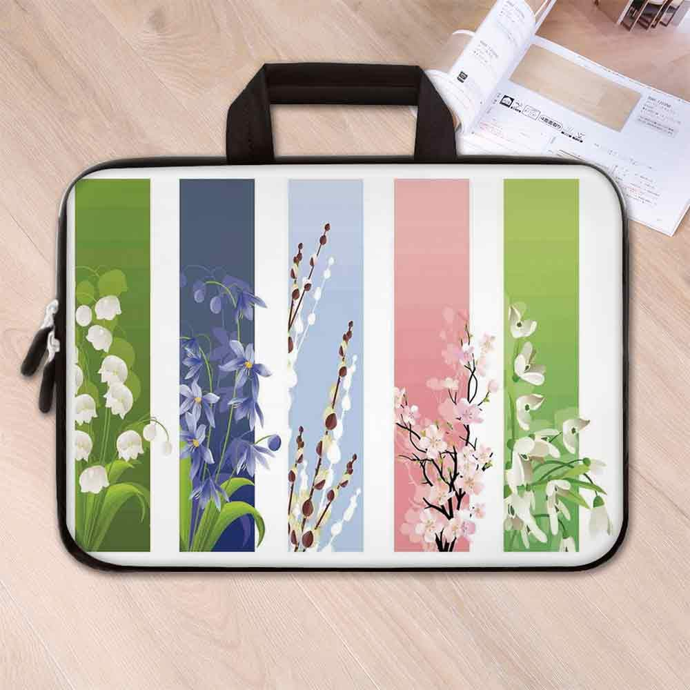 Amazon Com Floral Lightweight Neoprene Laptop Bag Spring Flowers