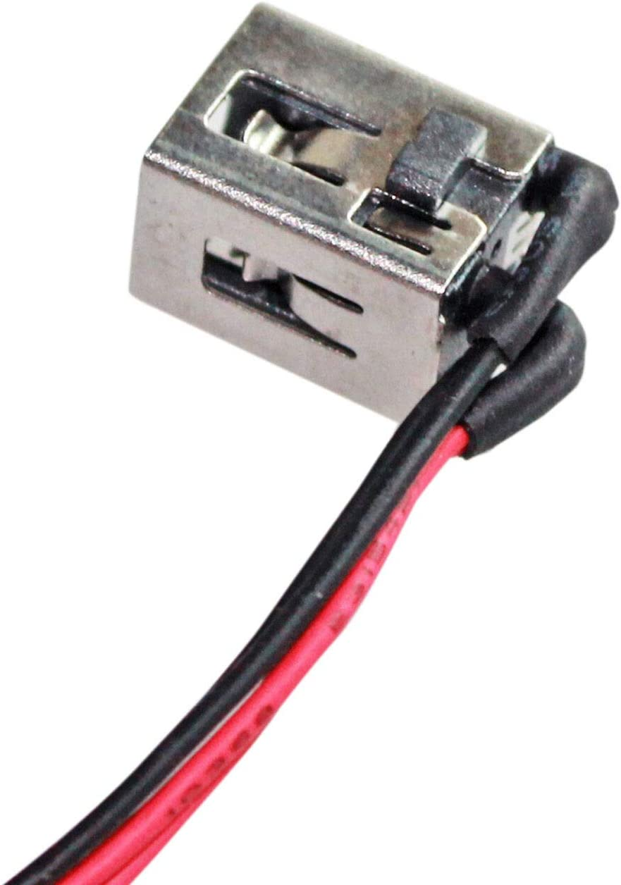 GinTai DC Power Jack with Cable Socket Plug Connector Port Replacement for Toshiba Satellite L855-S5113 L855-S5119 L855-S5405 L855-S5366 L855-S5372 6017B0404401 601780404401 50pcs