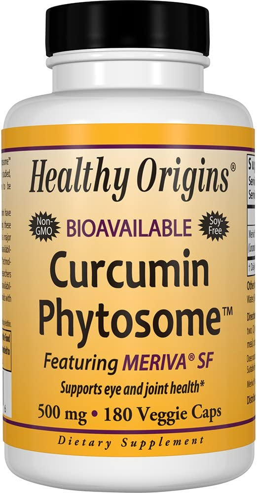 Healthy Origins Curcumin Phytosome Featuring Meriva SF 500 mg, 180 Veggie Caps